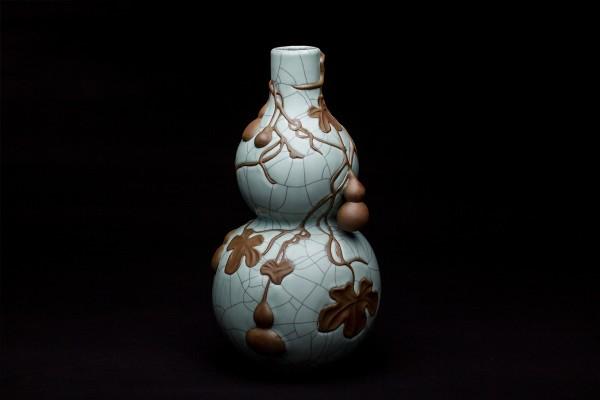 哥窑百宝葫芦瓶